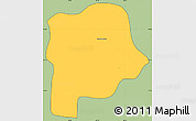Savanna Style Simple Map of Queluz, cropped outside