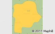 Savanna Style Simple Map of Queluz, single color outside
