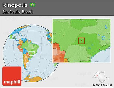 Rinópolis São Paulo fonte: maps.maphill.com