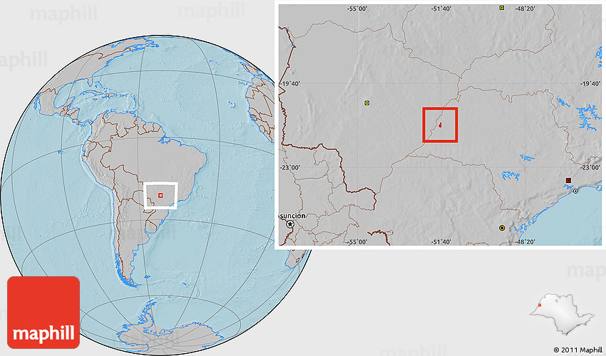 Santa Mercedes São Paulo fonte: maps.maphill.com