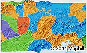 Political 3D Map of Sao Jose Do Barr