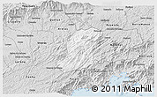 Silver Style 3D Map of Sao Jose Do Barr