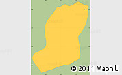 Savanna Style Simple Map of Sao Jose Do Barr, single color outside