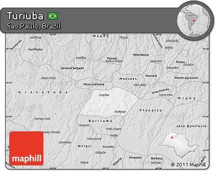 Turiúba São Paulo fonte: maps.maphill.com
