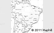 Blank Simple Map of Brazil