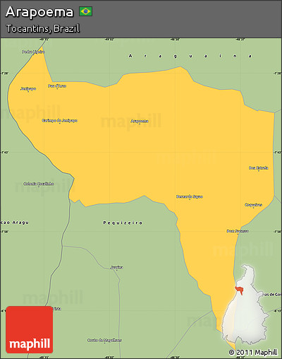 Arapoema Tocantins fonte: maps.maphill.com