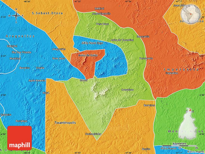 Itaguatins Tocantins fonte: maps.maphill.com