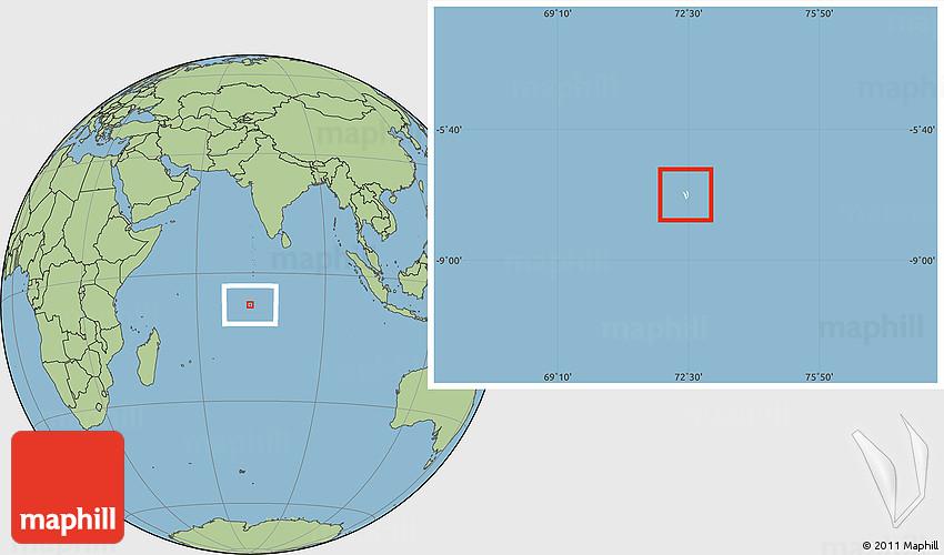 Blank location map of british indian ocean territory savanna style westnortheast publicscrutiny Choice Image