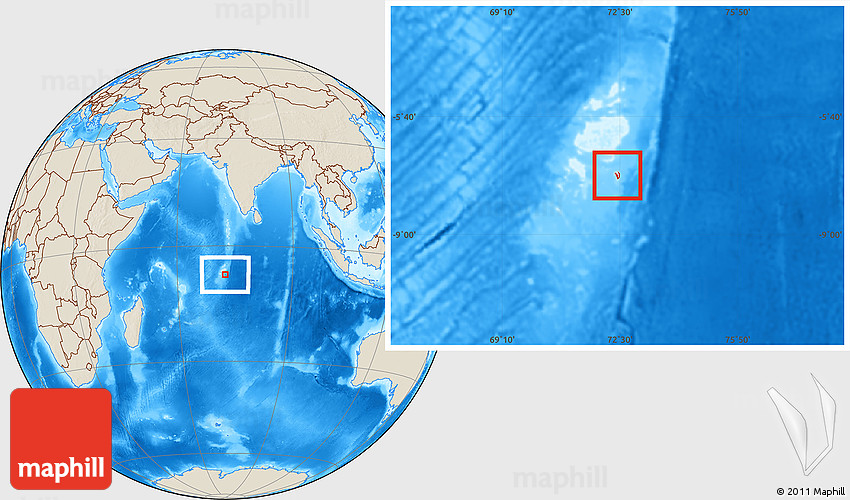Shaded relief location map of british indian ocean territory gumiabroncs Gallery