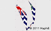Flag Simple Map of British Indian Ocean Territory