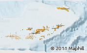Political Shades 3D Map of British Virgin Islands, lighten