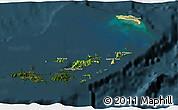 Satellite 3D Map of British Virgin Islands, darken