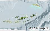 Satellite 3D Map of British Virgin Islands, lighten