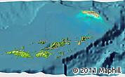 Satellite 3D Map of British Virgin Islands, physical outside, satellite sea