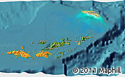 Satellite 3D Map of British Virgin Islands, political outside, satellite sea