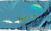 Satellite 3D Map of British Virgin Islands, single color outside