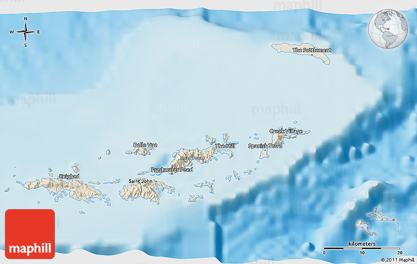 Virgin Islands National Park Map - St John USVI - 3D Map