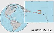 Blank Location Map of British Virgin Islands, gray outside