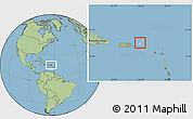 Blank Location Map of British Virgin Islands, savanna style outside