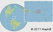 Flag Location Map of British Virgin Islands, savanna style outside