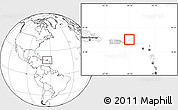 Gray Location Map of British Virgin Islands, blank outside