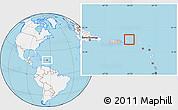 Gray Location Map of British Virgin Islands, lighten, land only