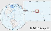Gray Location Map of British Virgin Islands, lighten