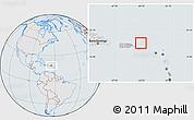 Gray Location Map of British Virgin Islands, lighten, semi-desaturated