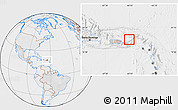 Political Location Map of British Virgin Islands, lighten, desaturated