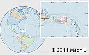 Political Location Map of British Virgin Islands, lighten, land only