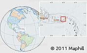 Political Location Map of British Virgin Islands, lighten