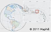 Political Location Map of British Virgin Islands, lighten, semi-desaturated