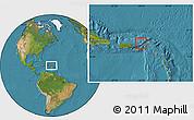 Political Location Map of British Virgin Islands, satellite outside