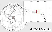 Satellite Location Map of British Virgin Islands, blank outside