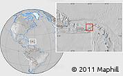 Satellite Location Map of British Virgin Islands, lighten, desaturated