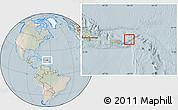 Satellite Location Map of British Virgin Islands, lighten
