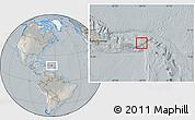 Satellite Location Map of British Virgin Islands, lighten, semi-desaturated