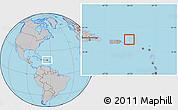 Savanna Style Location Map of British Virgin Islands, gray outside