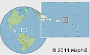 Savanna Style Location Map of British Virgin Islands, highlighted continent