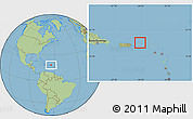Savanna Style Location Map of British Virgin Islands, hill shading inside