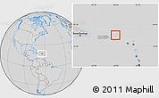 Savanna Style Location Map of British Virgin Islands, lighten, desaturated