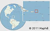 Savanna Style Location Map of British Virgin Islands, lighten, land only
