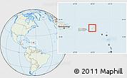 Savanna Style Location Map of British Virgin Islands, lighten