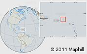 Savanna Style Location Map of British Virgin Islands, lighten, semi-desaturated