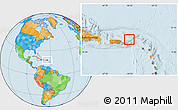 Savanna Style Location Map of British Virgin Islands, political outside
