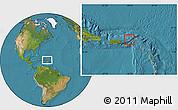 Savanna Style Location Map of British Virgin Islands, satellite outside