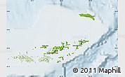 Physical Map of British Virgin Islands, lighten
