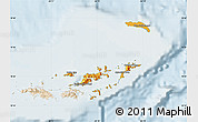 Political Map of British Virgin Islands, lighten