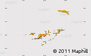 Political Shades Map of British Virgin Islands, cropped outside