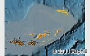 Political Shades Map of British Virgin Islands, darken